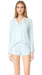 Пижамный комплект Tesoro с шортами и верхом с длинными рукавами Eberjey
