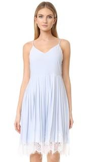 Платье без рукавов с оборками и кружевными вставками English Factory