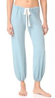 Меланжевые укороченные брюки Eberjey