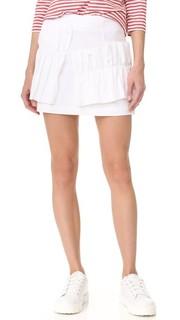 Мини-юбка с крупными оборками Romanchic