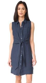 Платье на пуговицах с завязками спереди Three Dots