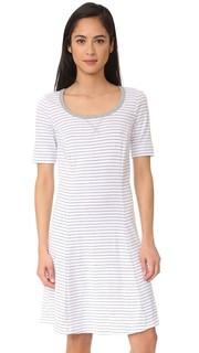 Платье в полоску с короткими рукавами Three Dots