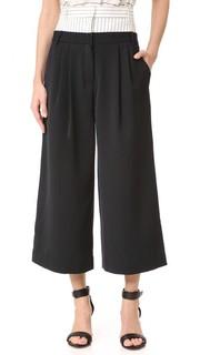 Укороченные брюки с двойным поясом Tibi