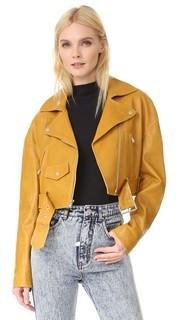 Укороченная байкерская куртка Tibi