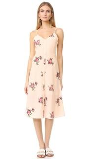 Мини-платье с цветочной вышивкой English Factory