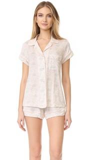 Пижамный комплект Palmitas с шортами Eberjey