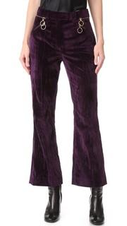 Укороченные расклешенные брюки Nina Ricci