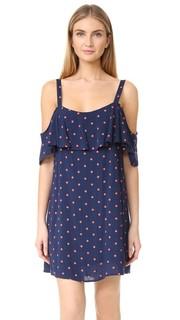 Кружевное платье с принтом в горошек Splendid