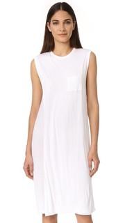 Классическое платье с запахом и карманом T by Alexander Wang
