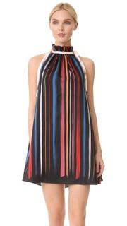 Шелковое платье-трапеция Adam Selman