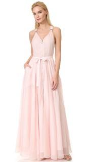 Вечернее платье в стиле комбинезона Adam Selman
