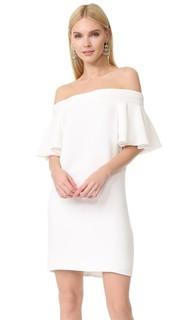 Мини-платье с оборчатыми рукавами Brandon Maxwell