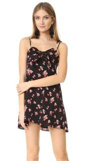 Платье без рукавов с изображением вишен For Love & Lemons