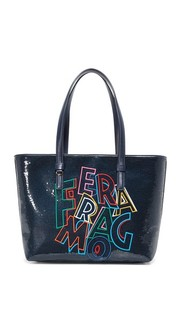 Объемная сумка с короткими ручками Bonnie Salvatore Ferragamo