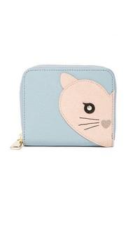 Маленький кошелек на круговой молнии Allegra с изображением кота Furla