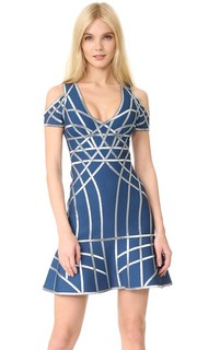 Платье с открытыми плечами Veronikka Herve Leger
