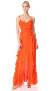 Макси-платье Perla с оборками Lagence