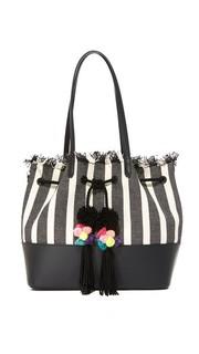 Объемная сумка с короткими ручками на завязке Loeffler Randall