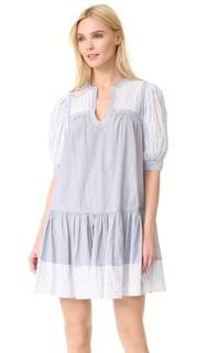 Платье в комбинированную полоску с короткими рукавами La Vie Rebecca Taylor