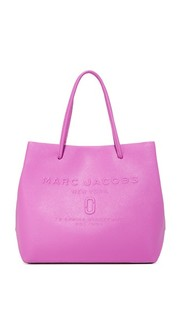 Объемная сумка-шоппер с короткими ручками и логотипом Marc Jacobs