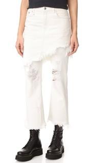 Классические двухслойные джинсы с юбкой R13