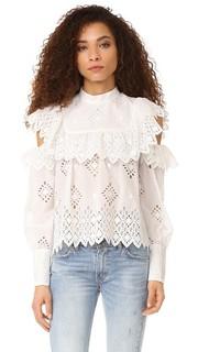 Блуза с открытыми плечами и оборками Sea