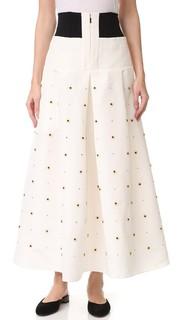 Широкая юбка с бусинами Charlotte Tibi
