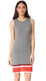Платье с шевронным рисунком Grey Jason Wu