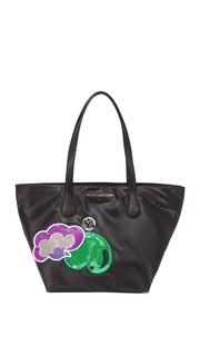 Нейлоновая объемная сумка с короткими ручками Wingman Marc Jacobs