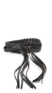 Плоский кожаные ремень с кисточками с узелками Rebecca Minkoff