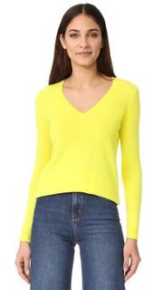Кашемировый пуловер Claudia Schiffer x TSE с V-образным вырезом