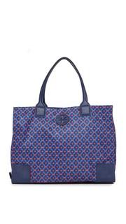 Складная объемная сумка с короткими ручками Ella из нейлона с принтом Tory Burch