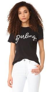 Футболка с надписью «Darling» Zoe Karssen