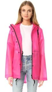 Оригинальная виниловая куртка с мелкими сборками Hunter Boots