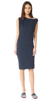 Асимметричное платье с драпировкой James Perse
