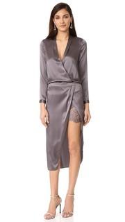Платье с длинными рукавами и кружевной комбинацией Michelle Mason