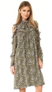 Платье с цветочным рисунком Robert Rodriguez