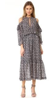Платье с оборками и принтом Robert Rodriguez