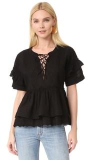 Блуза с оборками The Kooples
