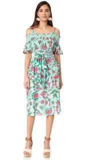 Платье Amber с мозаичным цветочным узором Tanya Taylor