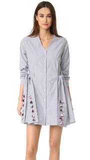 Платье в полоску Menswear Mirabelle Tanya Taylor