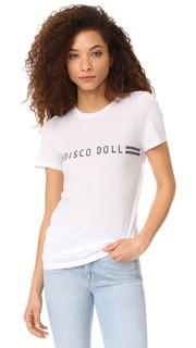 Футболка с надписью «Disco Doll» Zoe Karssen