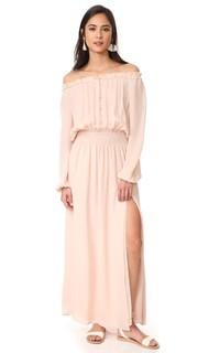Макси-платье со сборками Loveshackfancy