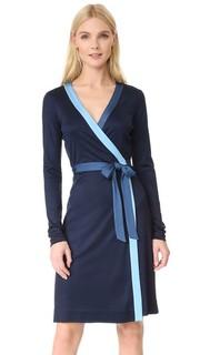 Длинное зауженное платье-халат Diane von Furstenberg