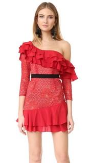 Платье Chianti с открытыми плечами и оборками For Love & Lemons