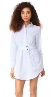 Платье-рубашка в стиле восточного халата в полоску Minkpink