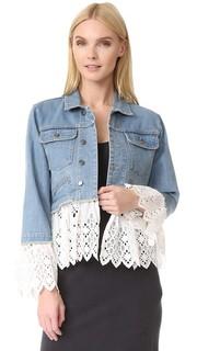Многослойный пиджак из денима с прорезями Sea