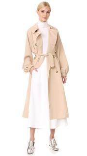 Пальто-тренч из твила Tibi