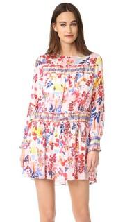 Платье Hailey с ярким цветочным рисунком Tanya Taylor