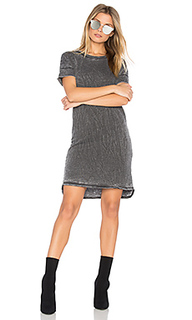 Burnout french terry t shirt dress - Stateside